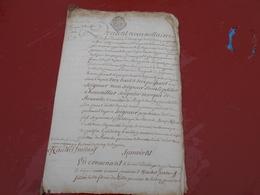Acte Notarial  De  1759  Cachet Bretagne   Trois Sols - Manuscripts