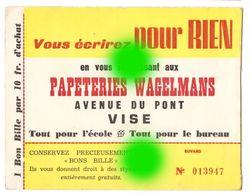 VISE  AVENUE DU PONT Vers 1950 PAPETERIES WAGELMANS - Papeterie