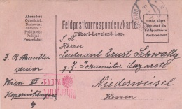 Feldpost WW1:  To A Leutenant In A Johanitter Lazarett In Hessen P/m Wien  10.9.1915 - Plain Postcard (T12-44) - Militaria