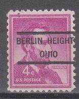 USA Precancel Vorausentwertung Preo, Locals Ohio, Berlin Heights 807 - Vereinigte Staaten
