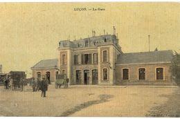 CPA N°18924 - LUCON - LA GARE + UNE ABIMEE - Lucon