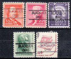 USA Precancel Vorausentwertung Preo, Locals Ohio, Blacklick 821, 5 Diff. - Vereinigte Staaten