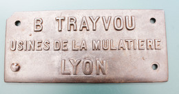 Plaque De Constructeur D'une Balance De Gare : TRAYVOU, La Mulatière, Lyon. Pesage, Mesure. - Unclassified