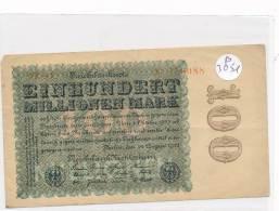 Billets -B3051- Allemagne - 100 Millionen  Mark 1923 (type, Nature, Valeur, état.) - 100 Millionen Mark