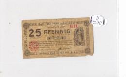 Billets -B3070- Allemagne - 25 Pfennig 1920 (type, Nature, Valeur, état... Voir  Double Scan) - Zwischenscheine - Schatzanweisungen