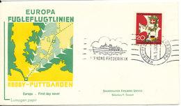 Germany FDC 14-5-1963 Bee Line Rödby - Fehmern And Paquebot With Cachet - [7] République Fédérale
