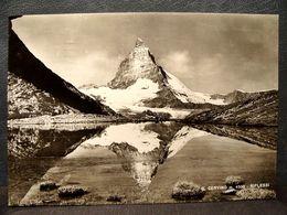 (FG.R66) MONTE CERVINO - RIFLESSI SUL LAGO (VAL D'AOSTA) VIAGGIATA 1966 - Aosta