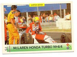 FIGURINA AYRTON SENNA MCLAREN HONDA   MP4/4 7-8-1988 HUNGARORING N.75 - Car Racing - F1