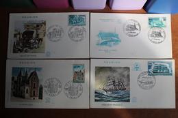 1967  /  1973  -    F.D.C.  DE  LA  REUNION       4  ENVELOPPES - Reunion Island (1852-1975)