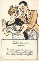 Illustration - Sale Coureur - Flirt Jeune Femme Gifle Gifles Séduction - Illustrateurs & Photographes