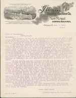 Etats Unis - Lettre Avec Entête De 1902 - Chicago : ILLiNOIS Sewing Machines Co. ( Fabrication De Machines à Coudre ). - Etats-Unis
