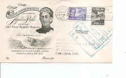 Avions - Aviateurs -Agustin Parla ( FDC De Cuba De 1952 Voyagé En Recommandé De LaHavane Vers Les USA à Voir) - Airplanes