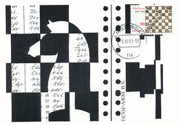D32741 CARTE MAXIMUM CARD RR FD 2001 NETHERLANDS - CHESS SCHACH SCHAKEN CP ORIGINAL - Chess