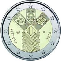 Litauen  2018  2 Euro  Commemo  Onafhankelijkheid (Baltische Staten)   UNC Uit De Rol  UNC Du Rouleaux  !! - Lituania