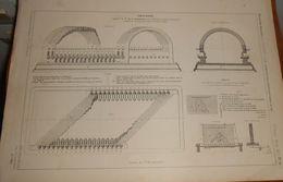 Plan D'une Voûte Biaise. Appareil De Monsieur De La Gournerie. 1879 - Travaux Publics