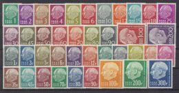 "Mi-Nr. 380/99, 408/48, ""Heuß"", Beide Ausgaben Komplett, ** - 1957-59 Bundesland"