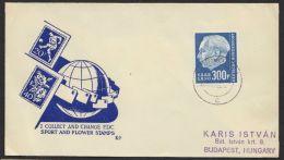 """Mi-Nr. 428, """"Heuß II"""", Höchstwert Auf Brief Nach Ungarn - 1957-59 Bundesland"""
