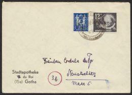 """Mi-Nr. 243, 245. Dek. MiF Auf Bedarfsbrief """"Gotha"""" - DDR"""