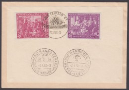 """Mi-Nr. 248/9, """"Leipziger Messe"""", 1950, Sst """"Ausländertreffpunkt"""", Zus. 2 Versch. Sst """"Hannover- Messe"""" Auf Umschlag - Briefe U. Dokumente"""