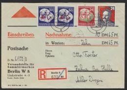 Mi-Nr. 290, 292, 294, Dek. MiF Auf R-NN-Postsache Mit Ankunft - DDR
