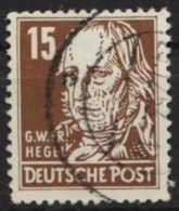 """Mi-Nr. 331 V XII, """"Hegel"""", Wasserzeichen Geprüft, O - DDR"""