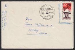"""Mi-Nr. 662, """"Pappchinese"""", EF """"Waren"""", 11.12., Marke Als Ungültig Eingerahmt - Briefe U. Dokumente"""