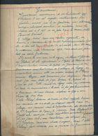 TYPE LETTRE RECIT TYPE ACTE  DE GOUVERNES X LAGNY 4 PAGES : - Manuscripts