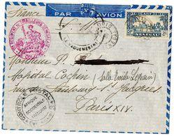 LETTRE PAR AVION De St.LOUIS à PARIS 1939 Hôpital Cochin - Sénégal (1960-...)