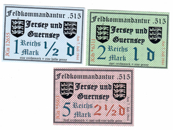 Fantasy Historical Banknotes - Jersey Guernsey  - German Occupation Of Channel Islands WW II - Altri