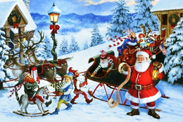 #7/60 Christmas New Year Angel Russian Modern Rare New Postcard - Nieuwjaar