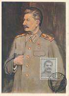 D32758 CARTE MAXIMUM CARD 1953 CZECHOSLOVAKIA - STALIN COMMUNISM CP ORIGINAL - Autres