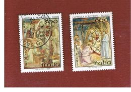 ITALIA REPUBBLICA  - SASS. 1815.16   -      1987     NATALE     -      USATO - 6. 1946-.. República