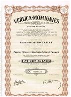 Action Ancienne - Verlica-Momignies - Titre De 1960 - - Industrie