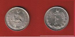Iran -  10 Rials 1325  ( 1946 )  -- Km # 1146 -  état  TTB+ - Iran