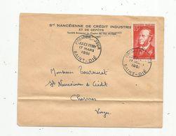 Premier Jour , FDC , JULES FERRY , 17 Mars 1951 , SAINT DIE, Sté Nancéienne De Crédit Industriel Et De Dépôts - 1950-1959