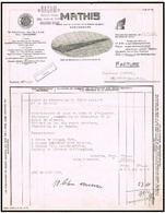 Strasbourg 1935 Automobiles Mathis Sacam Document Illustré - Cars