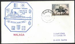 Z164  Spain 1978 Cover Malaga To Germany - Military Ship Envelope - 1931-Aujourd'hui: II. République - ....Juan Carlos I