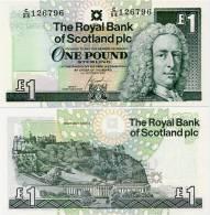 SCOTLAND - RBS     1 Pound     P-351e    1.10.2001    UNC - 1 Pound