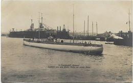 Foto AK U-Frachtschiff Bremen 1916 Ausfahrt Aus Dem Kieler Hafen Zur Ersten Reise U-Boot - Guerre 1914-18