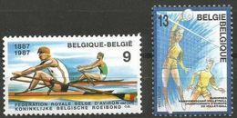 Belgium - 1987 Sports MNH **    Sc 1276-7 - Belgium