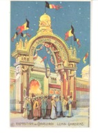Belgique-Exposition De Charleroi (Hainaut)-1911-Luna-Gardens-Attractions-Lithographie-Colorisée - Charleroi