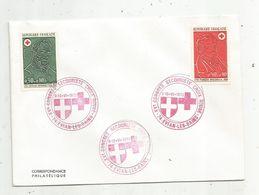 Correspondance Philatélique , XV E Congrés Secouriste CROIX ROUGE ,74 , EVIAN LES BAINS ,1973 - Red Cross