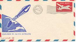 USA Postal Stationery Air Mail Cover Explorer III - 3rd U.S. Satelite Patrick Airforce Base 26-3-1958 - Briefe U. Dokumente