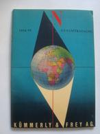 KÜMMERLY & FREY AG 1954/55 GESAMTKATALOG - SWITZERLAND, 1954. 56 PAGES. - Cartes