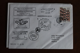 2001    -   MARION  DUFRESNE      ENVELOPPE  COMPLETE - Lettres & Documents