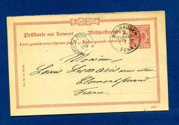 Carte   Cachet Mulhousen  à Lesmaris Clermont Ferrand    1386 - Postmark Collection (Covers)