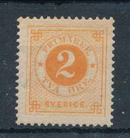Sweden 1891, Facit # 40 . Circle Type, Blue Posthorn On Back. MNH(**) - Nuevos