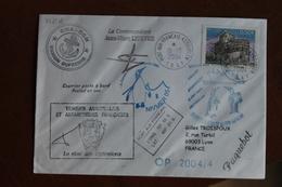 2004    -   MARION  DUFRESNE      ENVELOPPE  COMPLETE          PHOTO  DU  DOS - Lettres & Documents