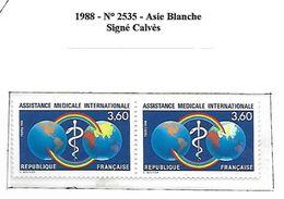 France 1988 Asie  Blanche    Cat Yt N° 2535 Signé Calvès   N** MNH - France