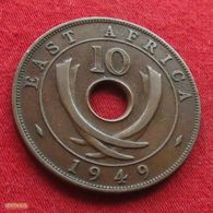 East Africa 10 Cents 1949 KM# 34  Africa Oriental Afrique Afrika - Monnaies